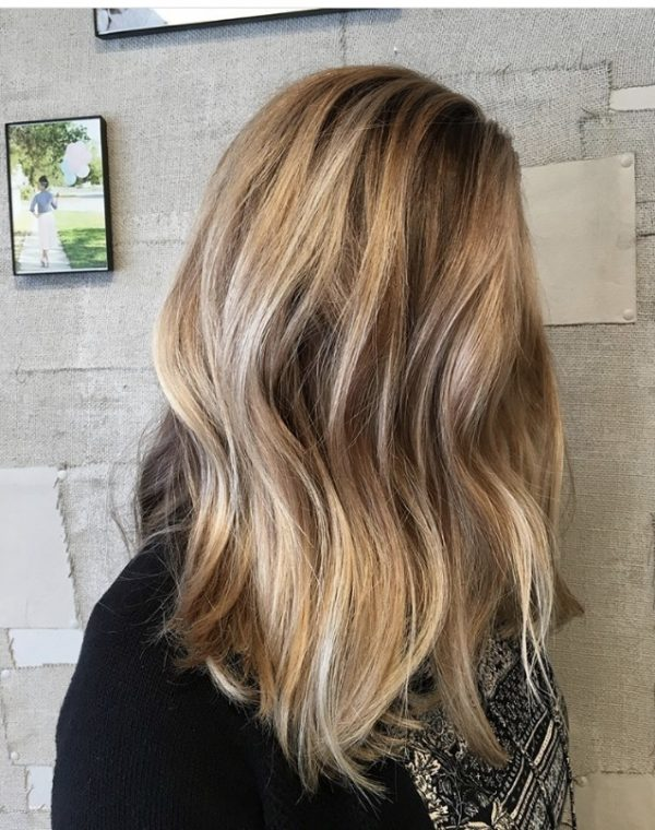 blonde brunette lowlights balayage hair painting denver haircut highlights haircolor hair inspo