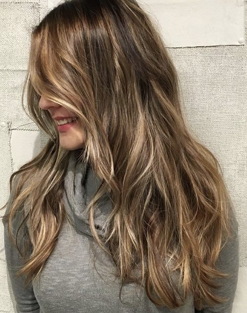 blonde brunette lowlights balayage hair painting denver haircut highlights haircolor hair inspo layered haircut