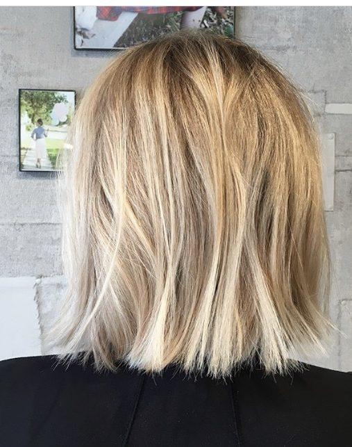 blonde brunette lowlights balayage hair painting denver haircut highlights haircolor hair inspo bob haircut